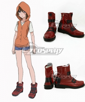 Toaru Kagaku no Railgun T Kinuhata Saiai Red Shoes Cosplay Boots