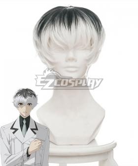 Tokyo Ghoul: re Tokyo Guru Haise Sasaki Black White Cosplay Wig 346G