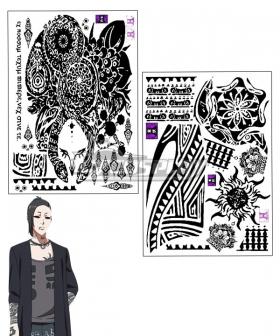 Tokyo Ghoul Tokyo Guru √A Uta Tattoo Sticker Cosplay Accessory Prop