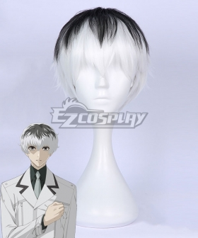 Tokyo Ghoul:re Tokyo Guru Haise Sasaki White Black Cosplay Wig