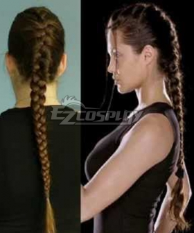 Tomb raider 2001 film Lara croft Brown Cosplay Wig