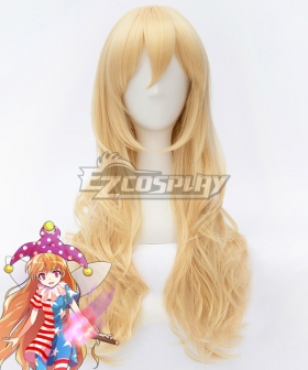 Touhou Project Clownpiece Golden Cosplay Wig