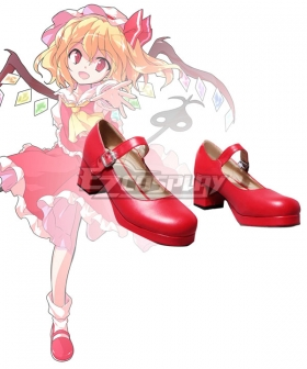 Touhou Project Flandre Scarlet Red Cosplay Shoes