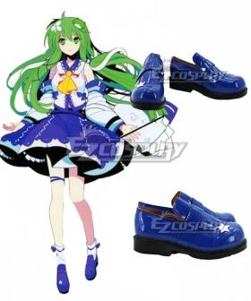 Touhou Project Kochiya Sanae Blue Cosplay Shoes