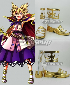 Touhou Project Toyosatomimi no Miko Golden Cosplay Shoes