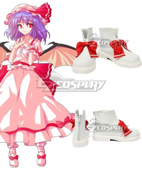 Touhou Project Vampire Remilia Scarlet White Cosplay Shoes