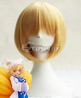 Touhou Project Yakumo Ran Golden Cosplay Wig