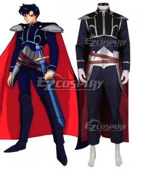 Tuxedo Mask Mamoru Chiba Prince Endymion Black Cosplay Costume