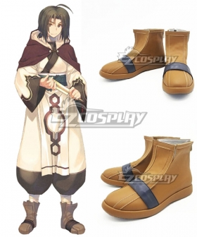 Utawarerumono The False Mask Itsuwari no Kamen Haku Brown Cosplay Shoes