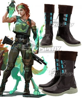 Valorant Skye Black Shoes Cosplay Boots