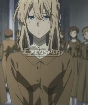 Violet Evergarden Violet Evergarden Brown Cosplay Costume
