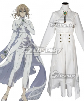 Violet Evergarden Violet Evergarden White Formal Cosplay Costume