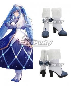 Vocaloid 2021 Snow Miku Hatsune Miku Blue Cosplay Shoes