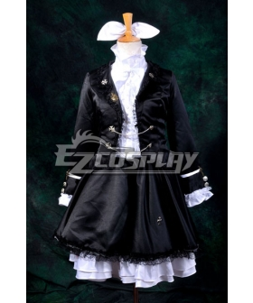 Vocaloid Kagamine Rin Secret Police Lolita Cosplay Costume-Y311