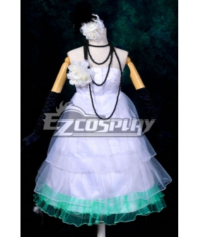 Vocaloid Miku Small White Dress Loita Cosplay Costume-Y290
