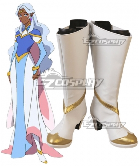 Voltron: Legendary Defender Princess Allura White Shoes Cosplay Boots