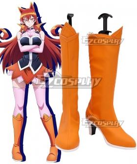 Welcome to Demon School! Iruma-kun Azazel Amelie Azazel Ameri Orange Shoes Cosplay Boots