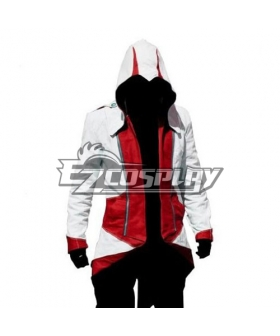 Assassin's Creed II Ezio White & Red Cosplay Hoodie