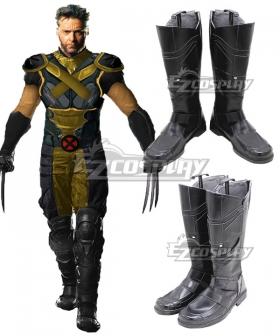 X-Men Origins: Wolverine Wolverine Black Shoes Cosplay Boots