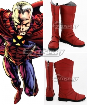 X Men Magneto Max Eisenhardt Red Shoes Cosplay Boots