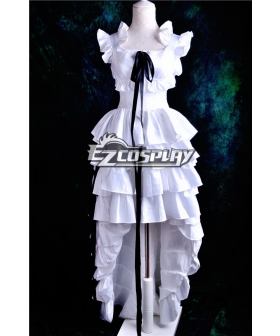 Chobits Chii Pure White Dress Cosplay Costume Deluxe Version-Y190