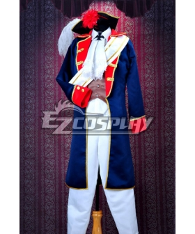 Axis Powers Hetalia Prussia War Uniform Cosplay Costume Deluxe Version-Y203