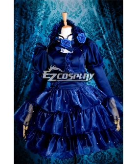 Sweet Lolita Blue Dress Halloween Christmas Cosplay Costume - Y260