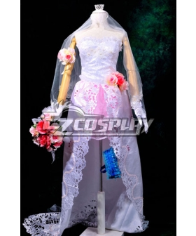 Macross Frontier The Wings of Goodbye Sheryl Nome Wedding Dress Cosplay Costume Deluxe