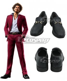 Yakuza 7 Ichiban Kasuga Black Cosplay Shoes