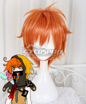Your Turn to Die Rio Ranger Orange Red Cosplay Wig