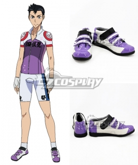 Yowamushi Pedal Ishigaki Koutarou Purple White Cosplay Shoes