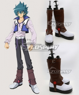 Yu-Gi-Oh! GX Johan Andersen Brown Shoes Cosplay Boots
