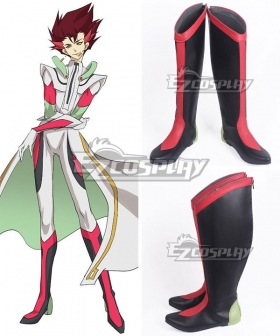 Yu-Gi-Oh! VRAINS Revolver Black Red Shoes Cosplay Boots