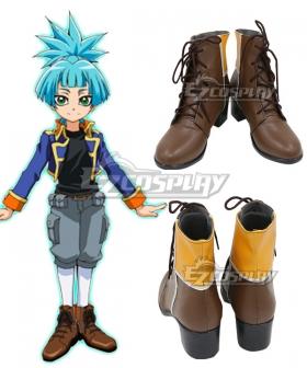 Yu-Gi-Oh! Yugioh ARC-V Sora Shiunin Brown Shoes Cosplay Boots