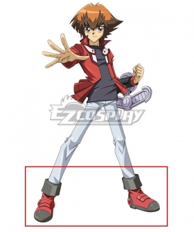 Yu-Gi-Oh! Yugioh GX Judai Yuki Jaden Yuki Red Black Cosplay Shoes
