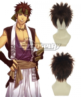 Hakuouki Nagakura Shinpachi Brown Cosplay Wig 011C