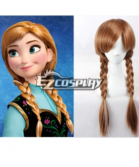 Frozen Anna Disney Brown Cosplay Wig-336A