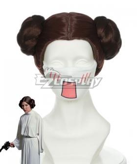 Star Wars Princess Leia Organa Solo Brown Cosplay Wig 405B