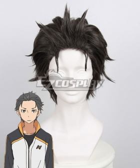 Re: Life In A Different World From Zero Subaru Natsuki Black Cosplay Wig 400A