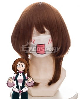 My Hero Academia Boku no Hero Akademia Ochaco Uraraka Ochako Brown Cosplay Wig 445D