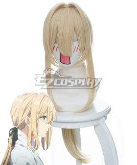 Violet Evergarden Violet Evergarden Light Yellow Cosplay Wig 446B