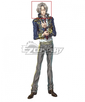 Zero Escape: The Nonary Games Snake Light Field Silver Cosplay Wig