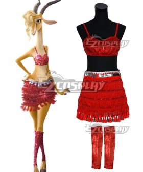 Disney Zootopia Superstar Gazelle Cosplay Costume