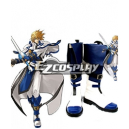 Guilty Gear Ky Kiske Halloween Blue White Cosplay Boots