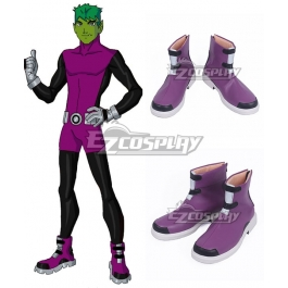 Dc Teen Titans Beast Boy Garfield Logan Purple Cosplay Shoes
