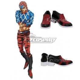 JO JO Guido Mista Black /& Red Cosplay Boots shoes