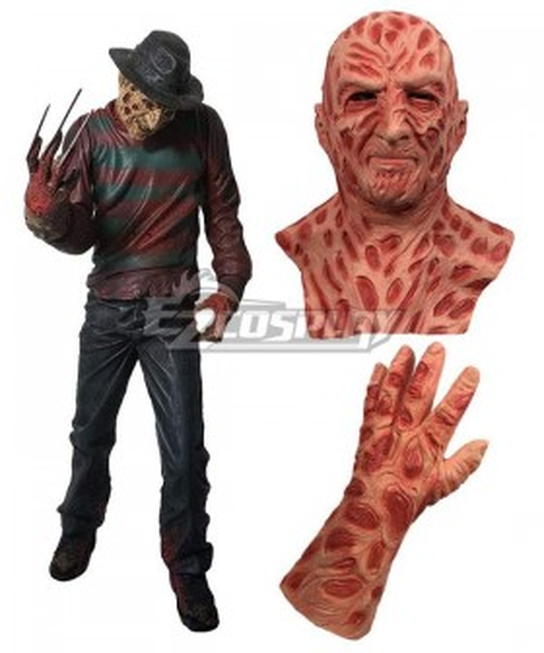 A Nightmare on Elm Street Freddy Krueger Halloween Mask Gloves Cosplay Accessory Prop