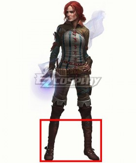 The Witcher 2 Triss Merigold Brown Shoes Cosplay Boots