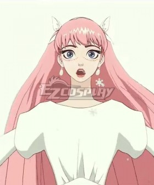2021 Film Ryuu to Sobakasu no Hime Belle Pink Cosplay Wig