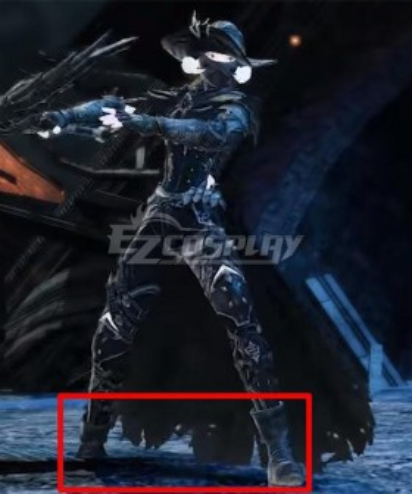 Final Fantasy XIV FF14 Endwalker Reaper Black Cosplay Shoes